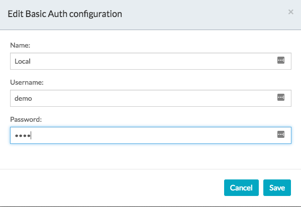 Defining the Basic Auth header