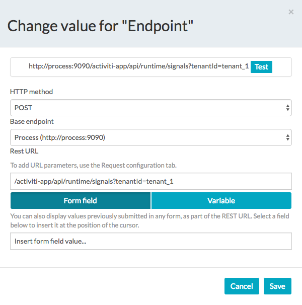 Defining the step REST endpoint