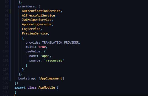 appModules providers array