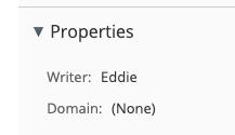 Writer property set