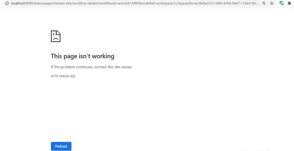 It is redirecting here